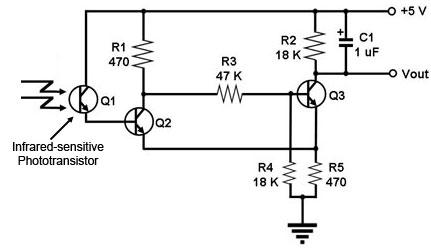 electronic projects rh electronic projects 50webs com  flame detector sensor circuit diagram