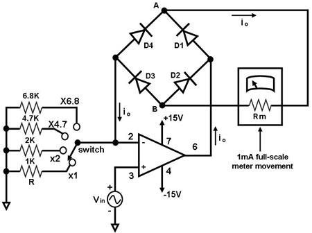 Low Voltage Ac Voltmeter on motor control schematic diagram