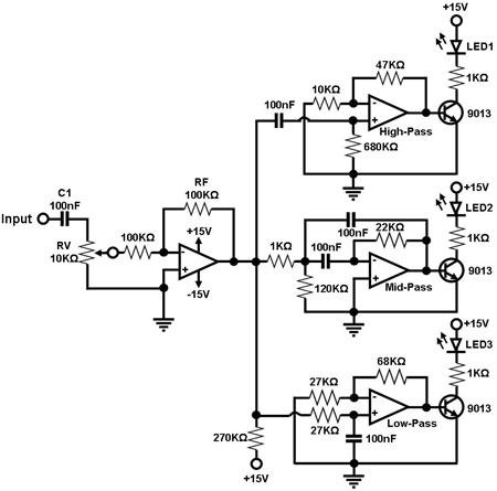 Electronic projects sound to dancing lights converter circuit ccuart Image collections