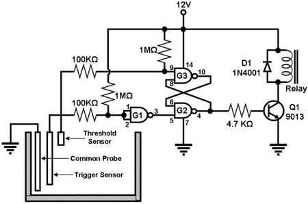 water level detector circuit diagram the wiring diagram electronic projects circuit diagram · simple water level